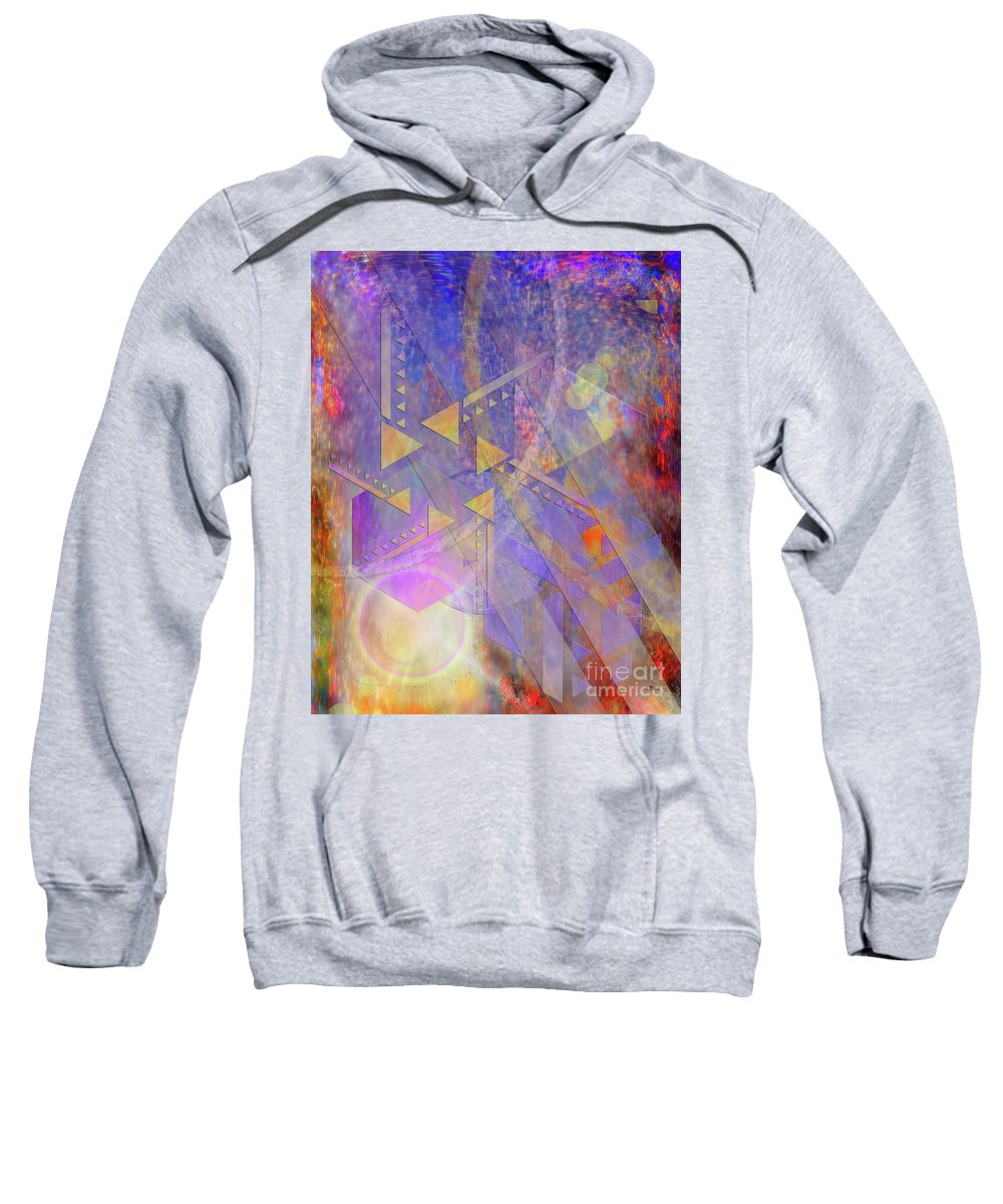 Aurora Aperture Sweatshirt featuring the digital art Aurora Aperture by John Beck