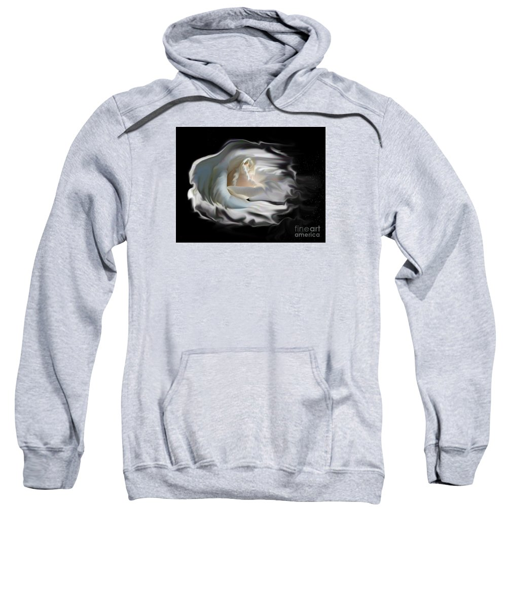 Rose Sweatshirt featuring the photograph Aurora Rosealis by Vivian Martin