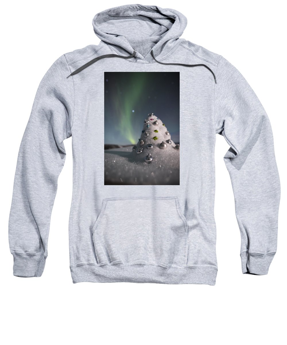 Sweatshirt featuring the photograph Auroral Christmas Tree by Ian Johnson