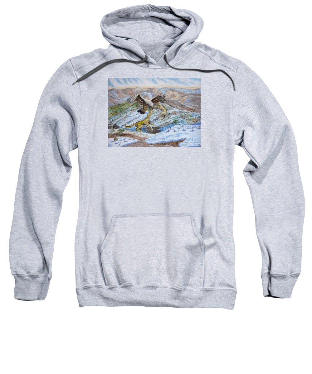 Mountain Sweatshirt featuring the pastel Australian Challenge by Gerald Ziolkowski