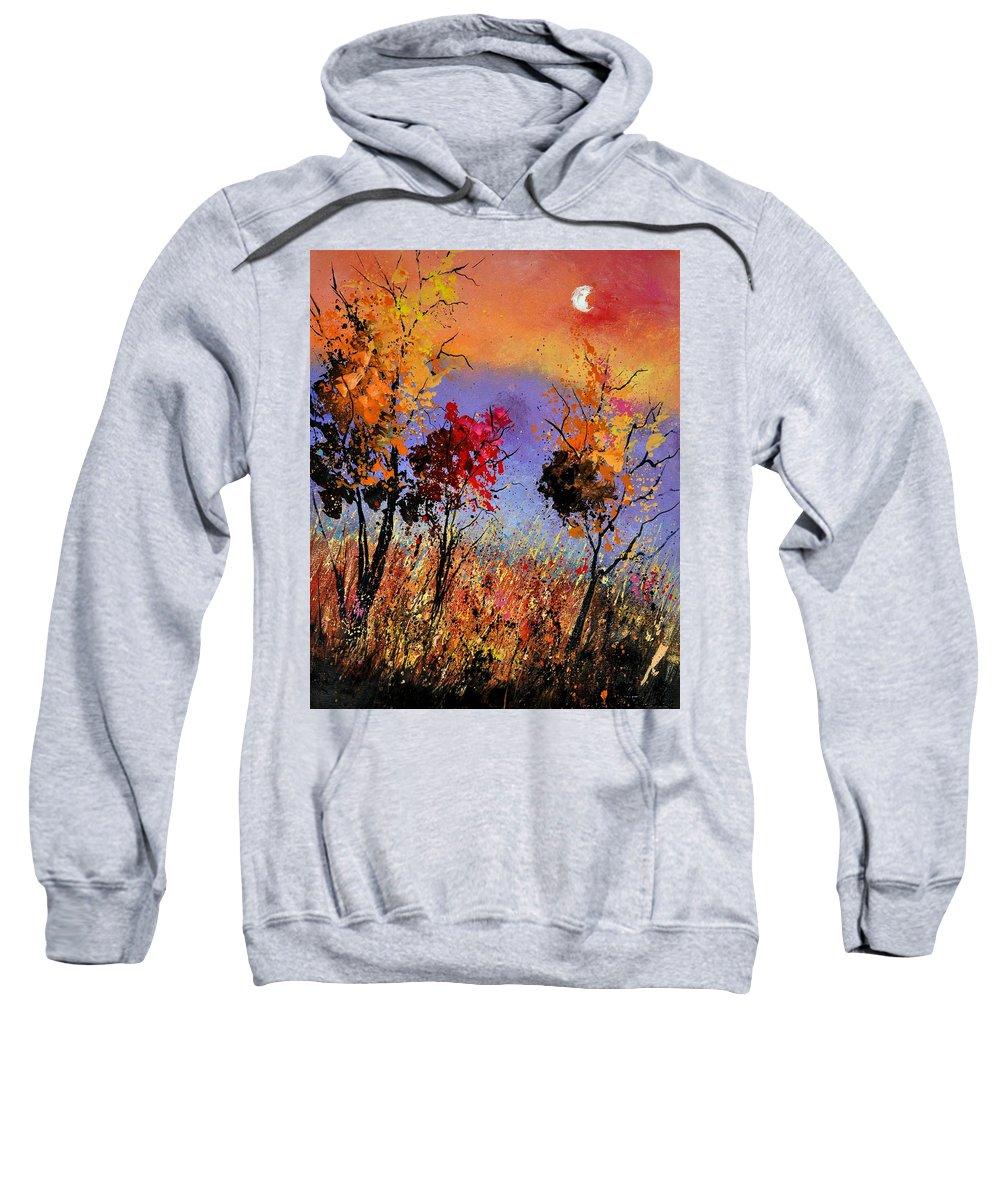 Landscape Sweatshirt featuring the painting Autumn 451110 by Pol Ledent