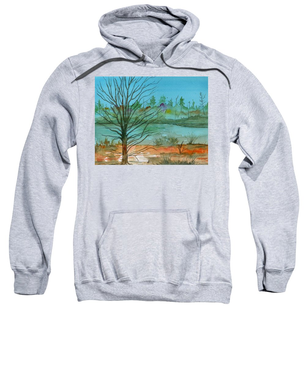 Watercolor Sweatshirt featuring the painting Autumn Afternoon by Brenda Owen