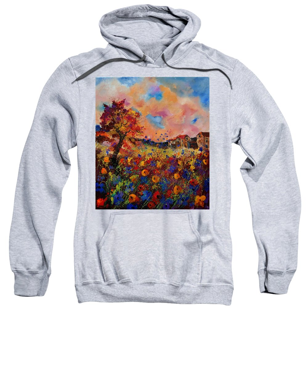 Poppies Sweatshirt featuring the painting Autumn Colors by Pol Ledent