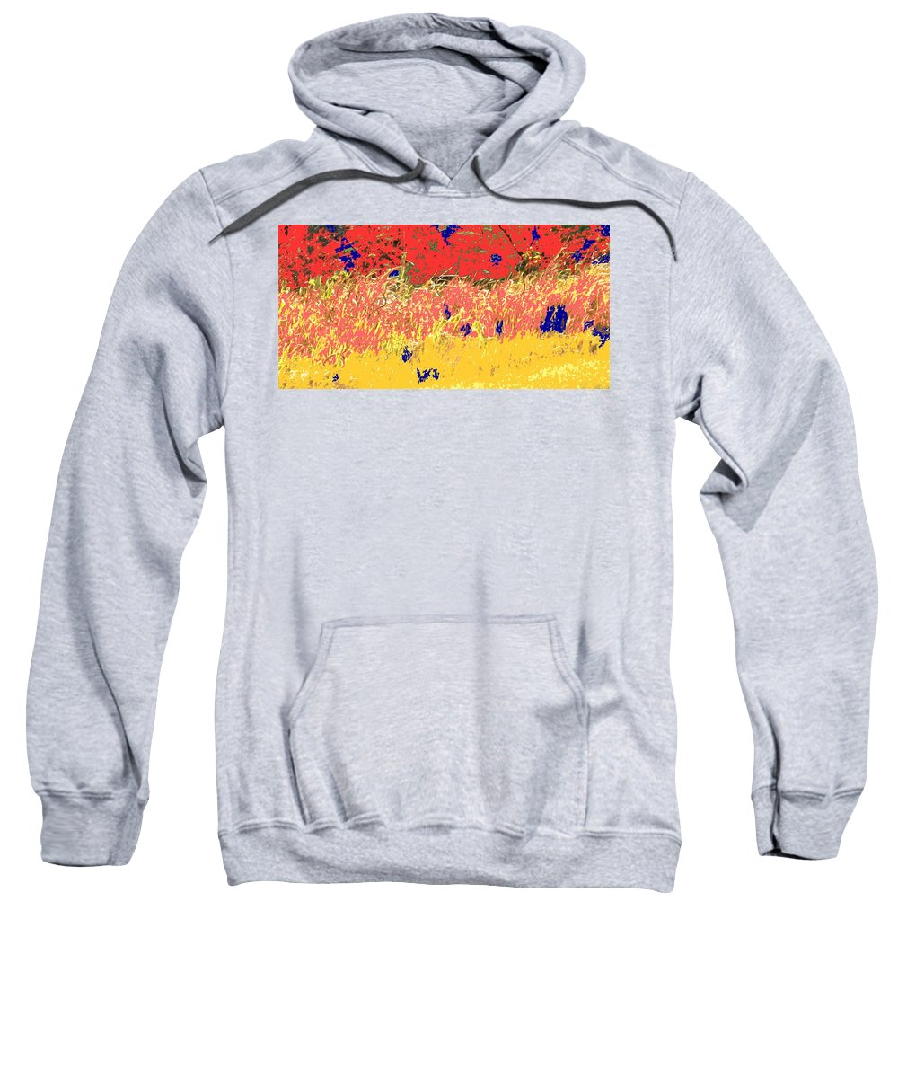 Autumn Sweatshirt featuring the photograph Autumn Grasses by Ian MacDonald