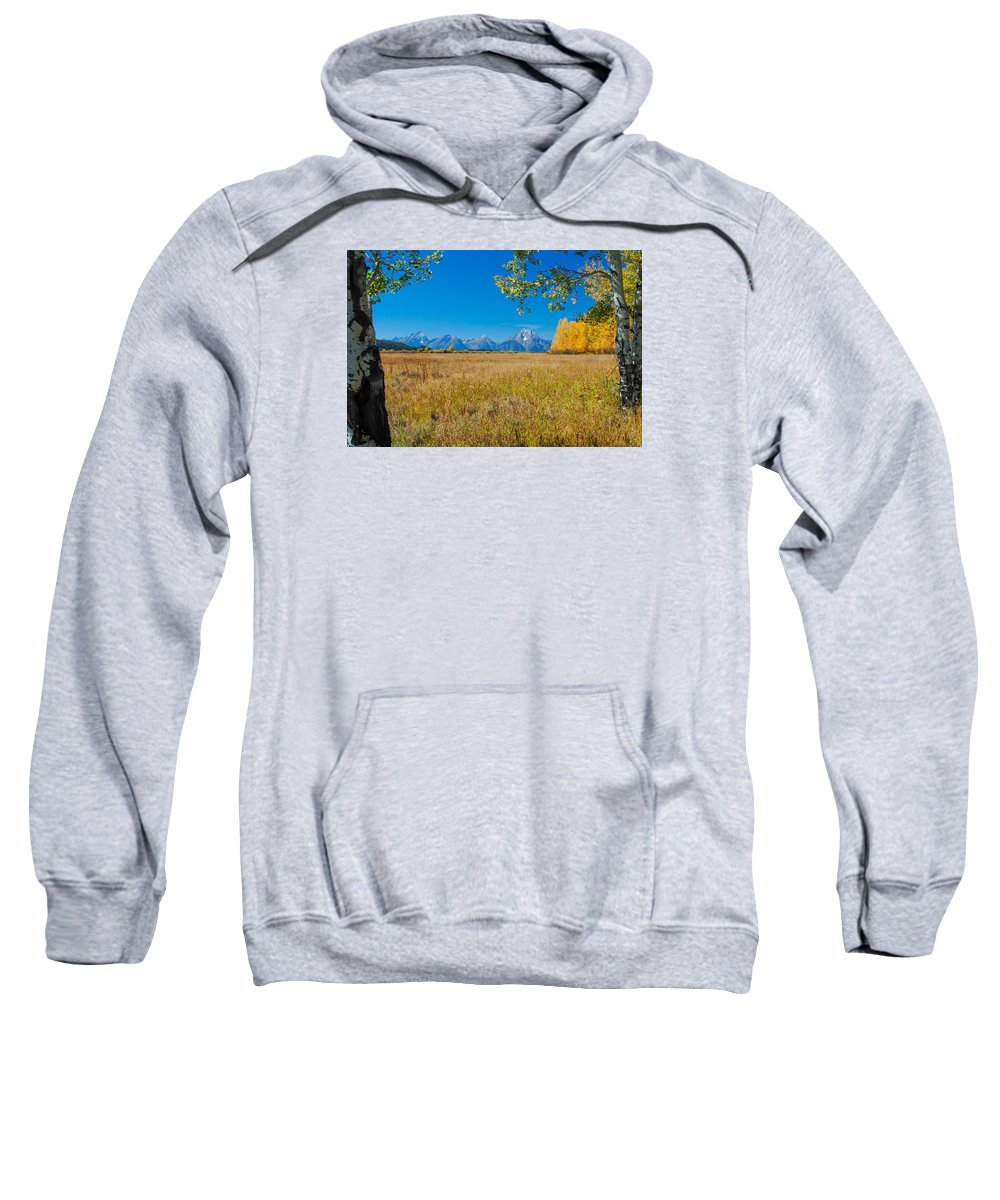 Tetons Sweatshirt featuring the photograph Autumn In The Tetons by Megan Martens