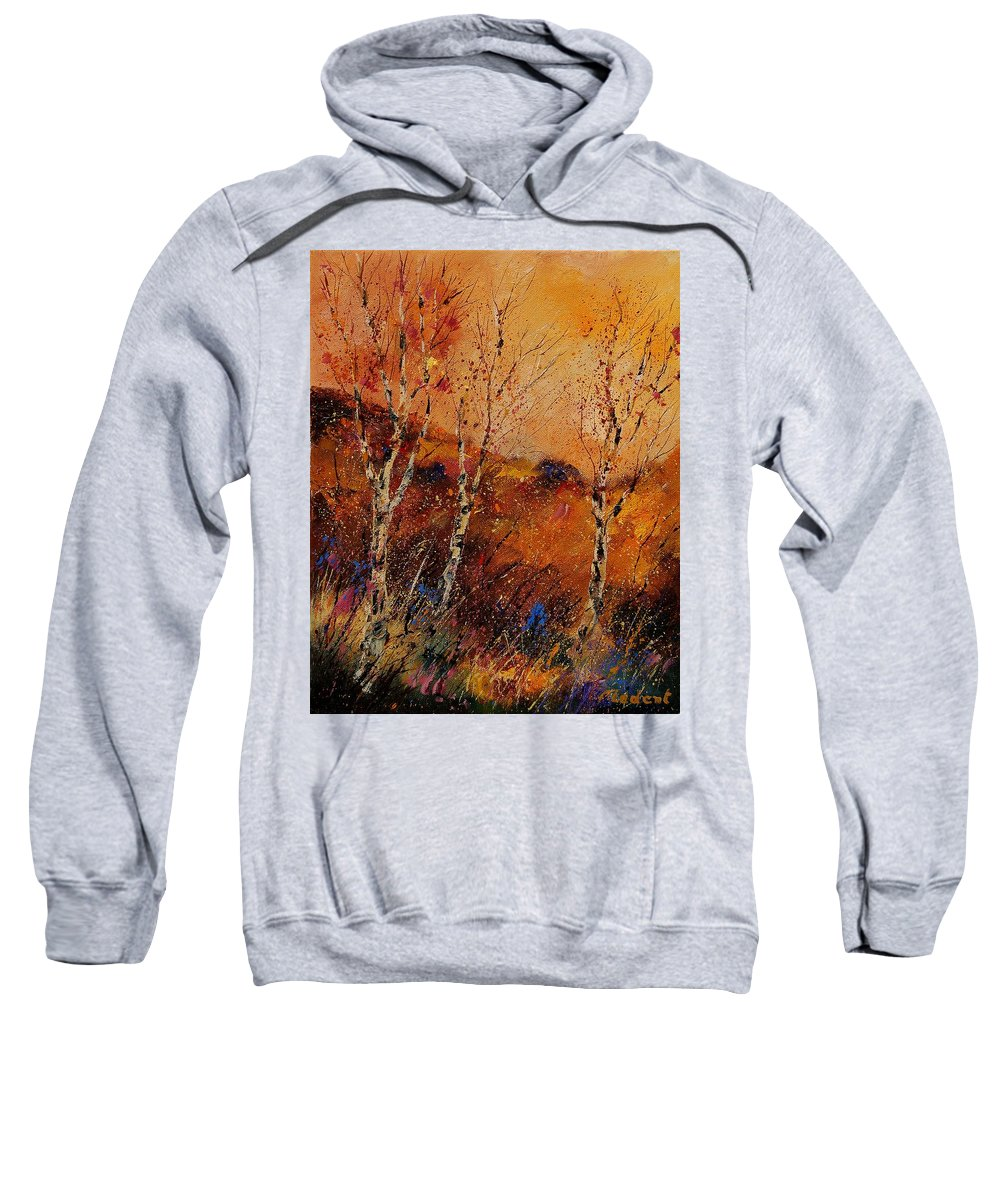 Tree Sweatshirt featuring the painting Autumn Landscape 45 by Pol Ledent