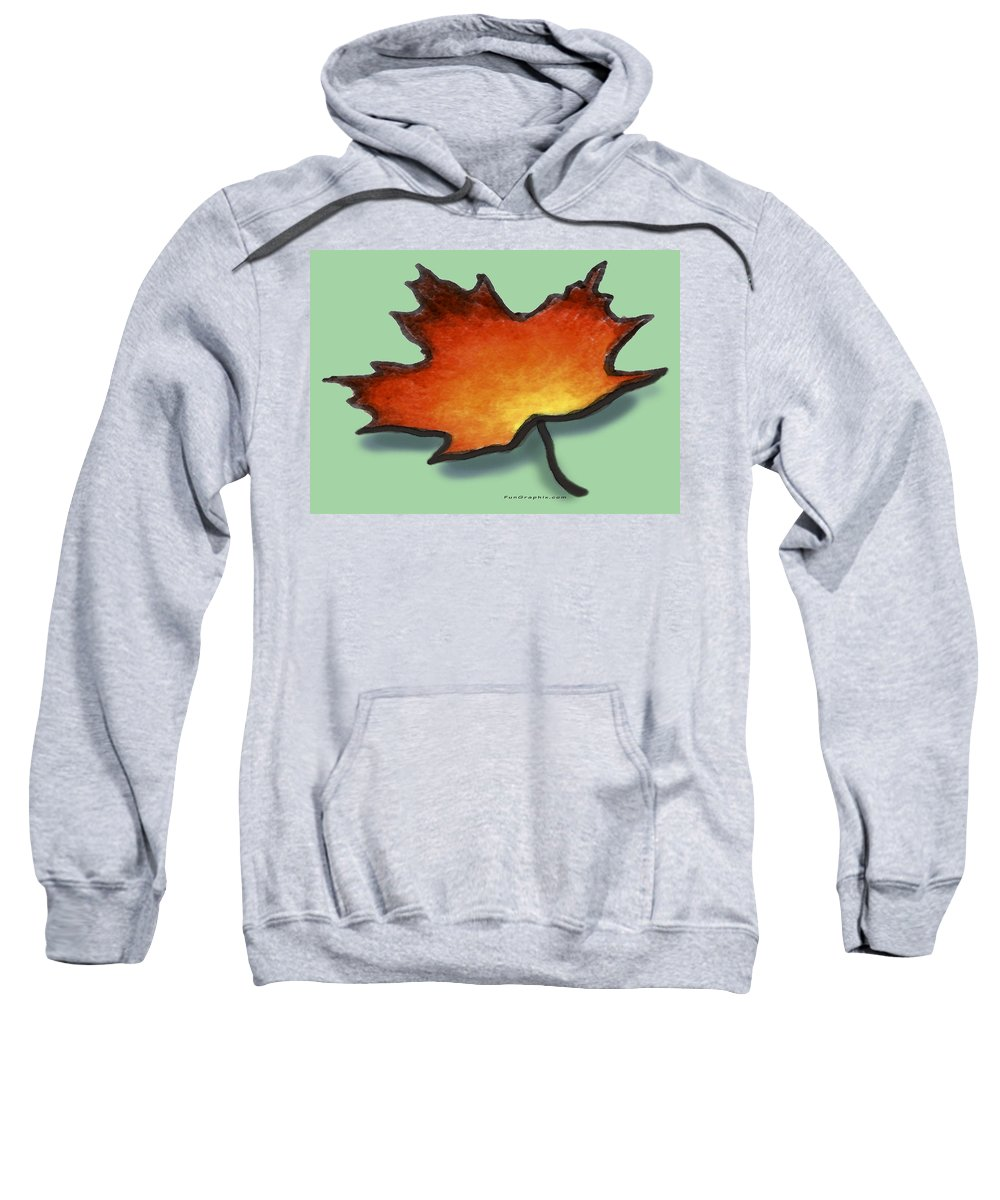 Leaf Sweatshirt featuring the greeting card Autumn Leaf by Kevin Middleton