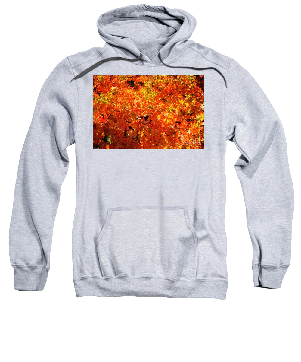 Fall Sweatshirt featuring the photograph Autumn Leaves by James E Weaver