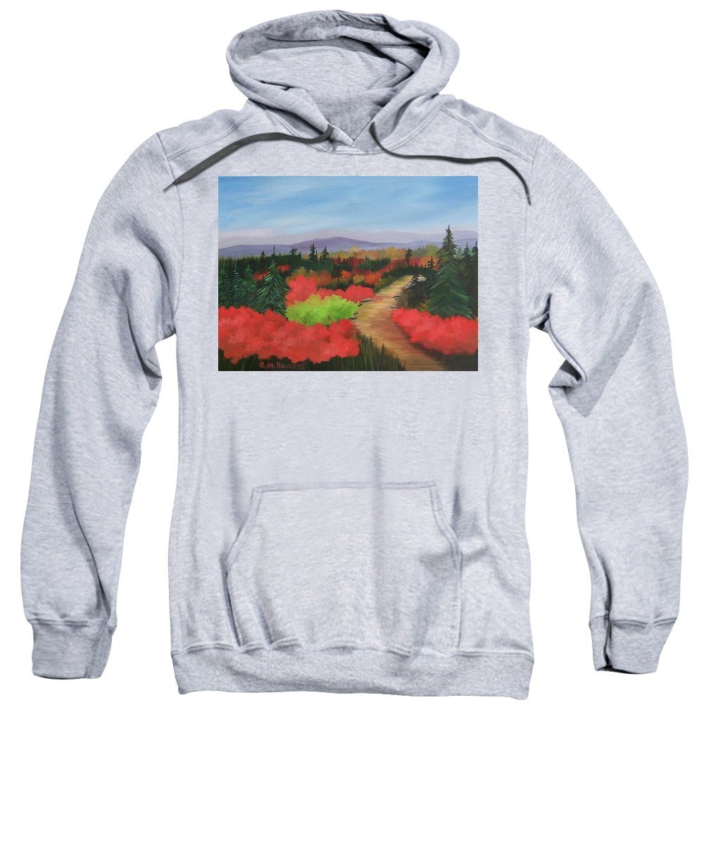 Landscape Sweatshirt featuring the painting Autumn On Dolly Sods by Ruth Housley