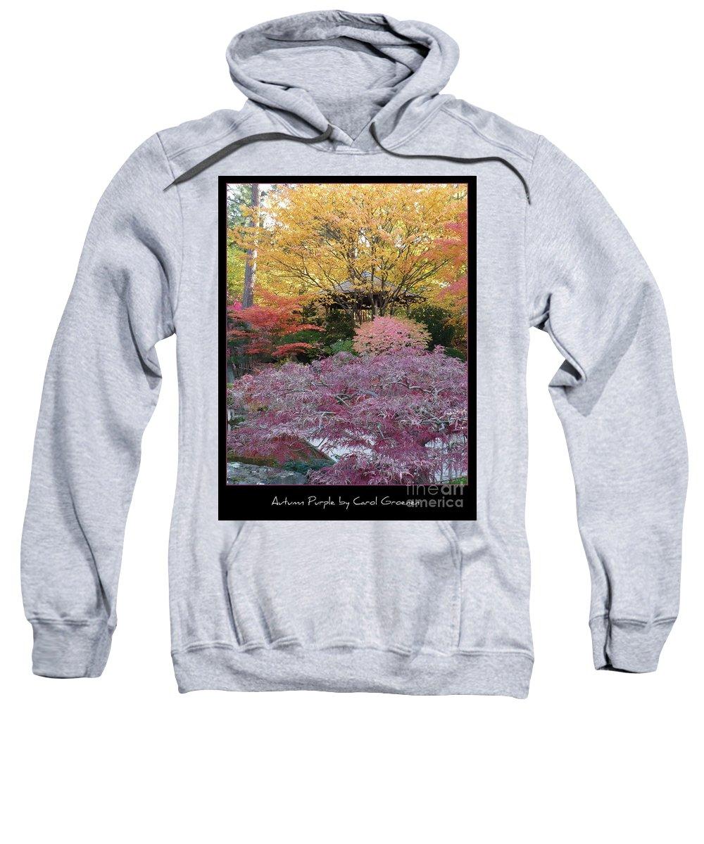 Fall Sweatshirt featuring the photograph Autumn Purple by Carol Groenen
