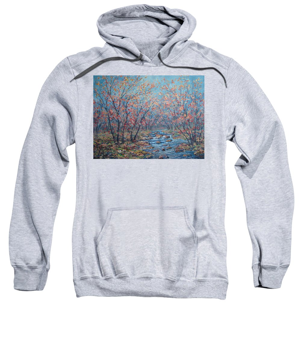 Landscape Sweatshirt featuring the painting Autumn Serenity by Leonard Holland