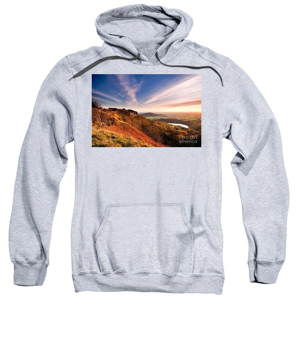 North York Moors National Park Sweatshirt featuring the photograph Autumn Sunset At Sutton Bank by Richard Burdon