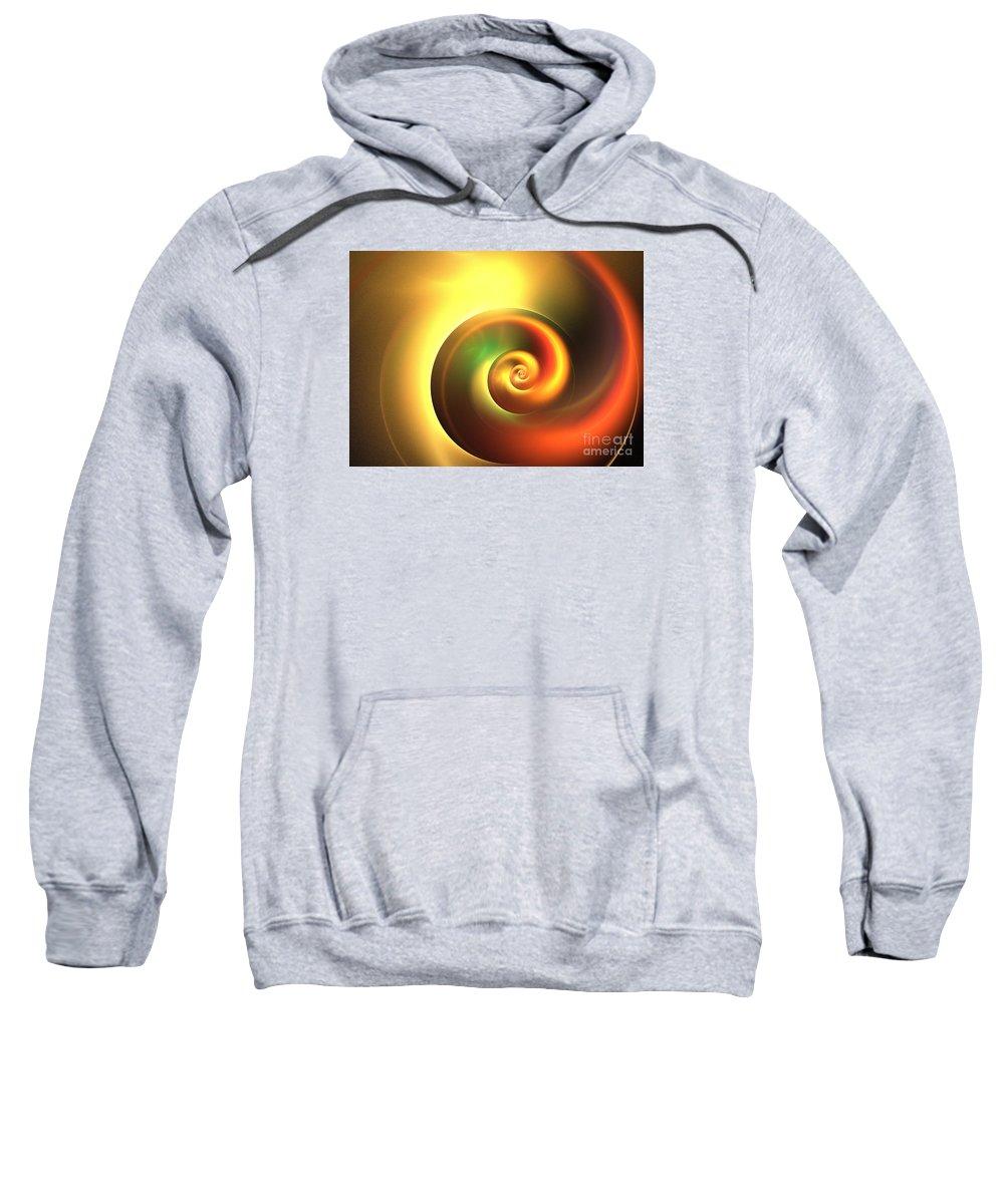 Apophysis Sweatshirt featuring the digital art Autumn Swirl by Kim Sy Ok