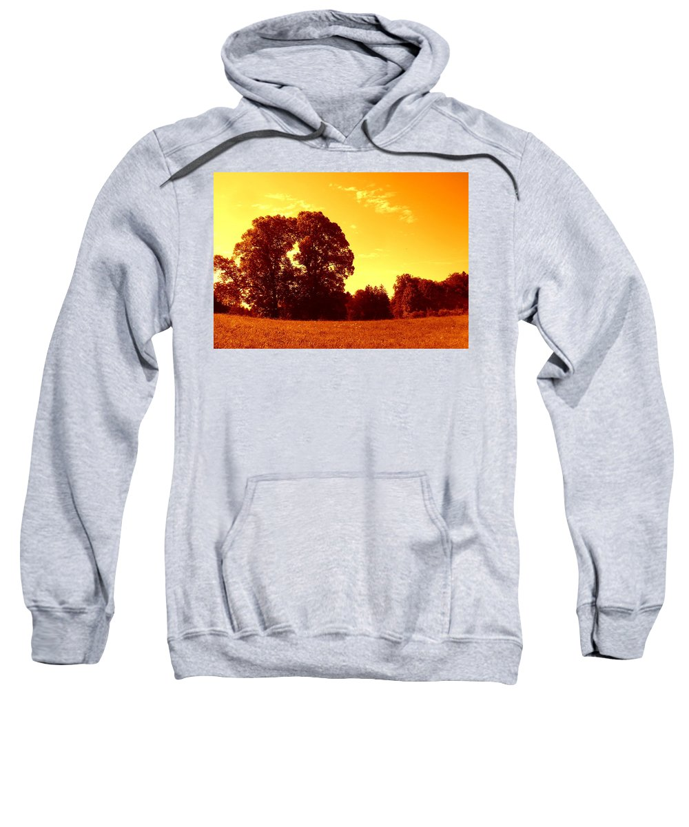 Autumn Sweatshirt featuring the photograph Autumn Trees by The Creative Minds Art and Photography