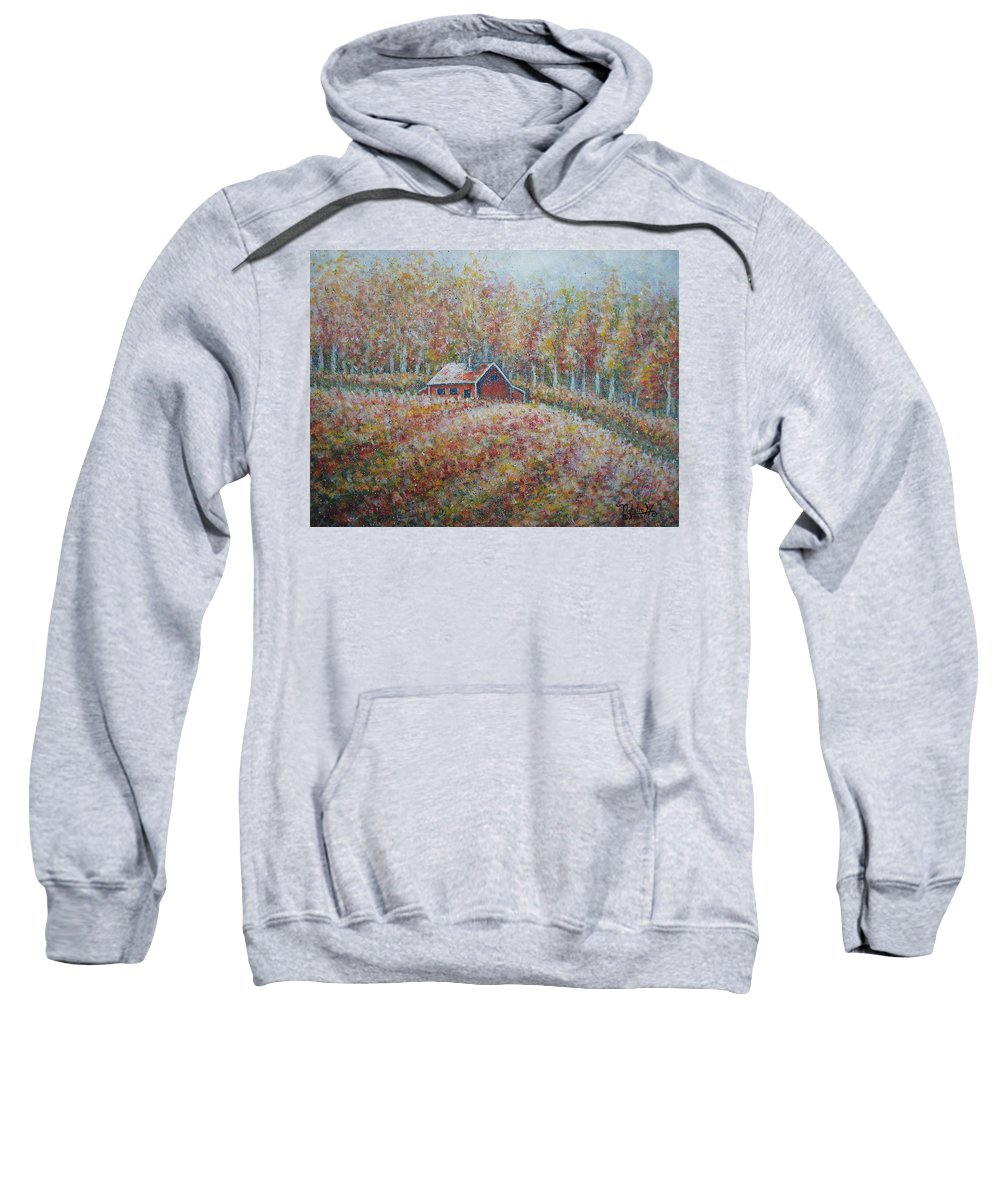 Landscape Sweatshirt featuring the painting Autumn Whisper. by Natalie Holland