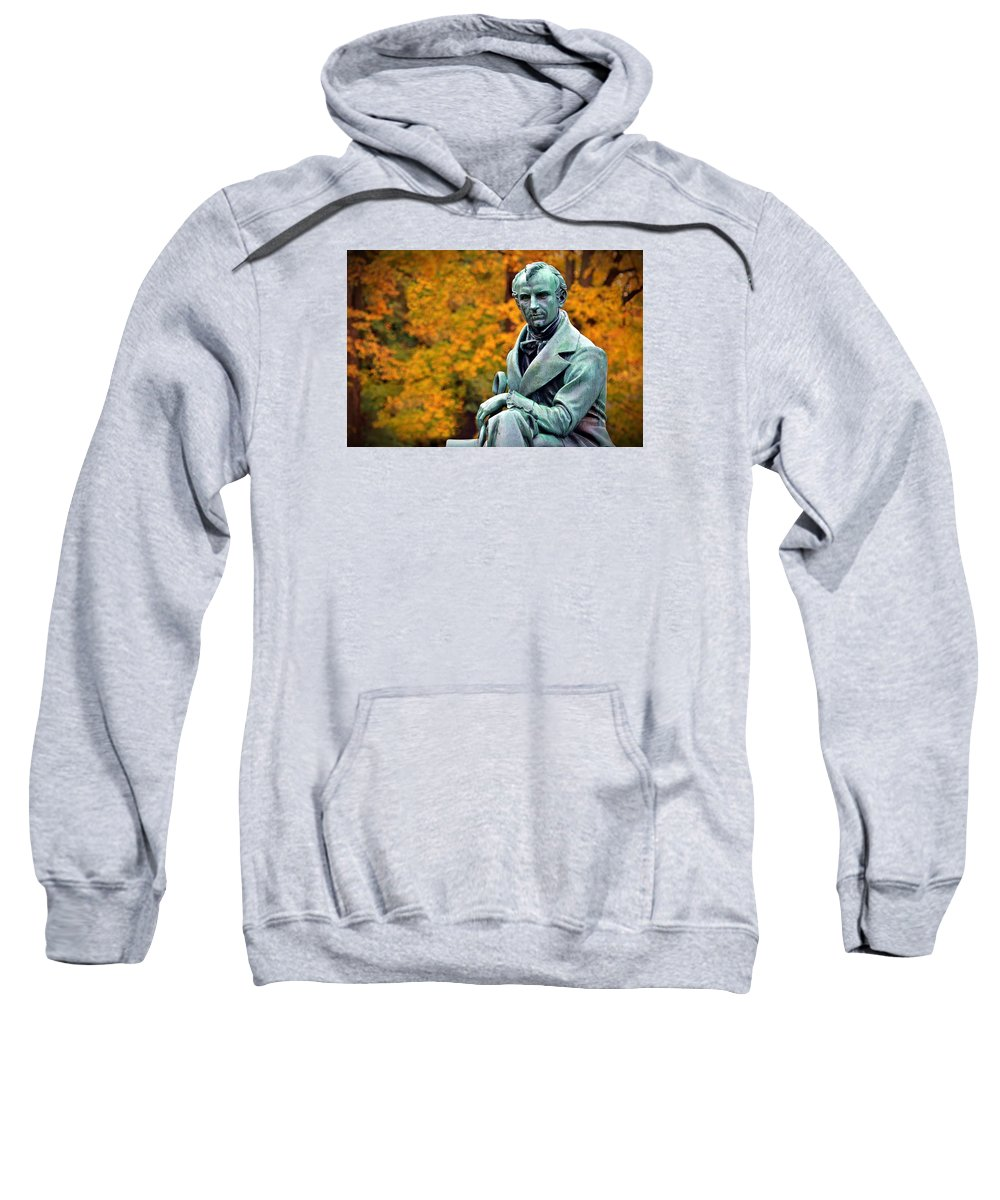 James Fenimore Cooper Sweatshirt featuring the photograph Autumn With Mr. Cooper by Christopher Miles Carter