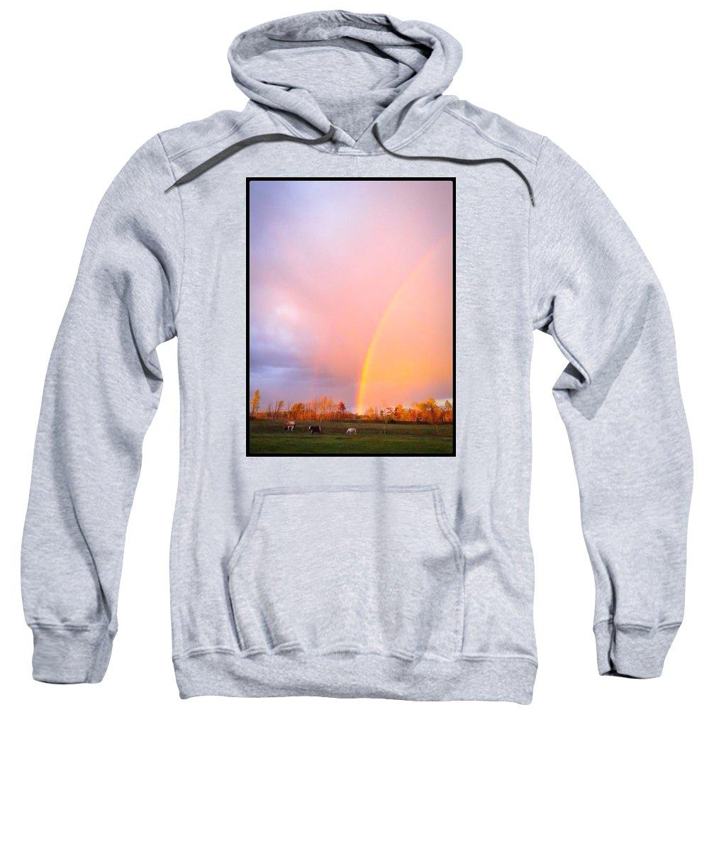 Rainbow Sweatshirt featuring the photograph Autumns Glory by Karen Dzielsky