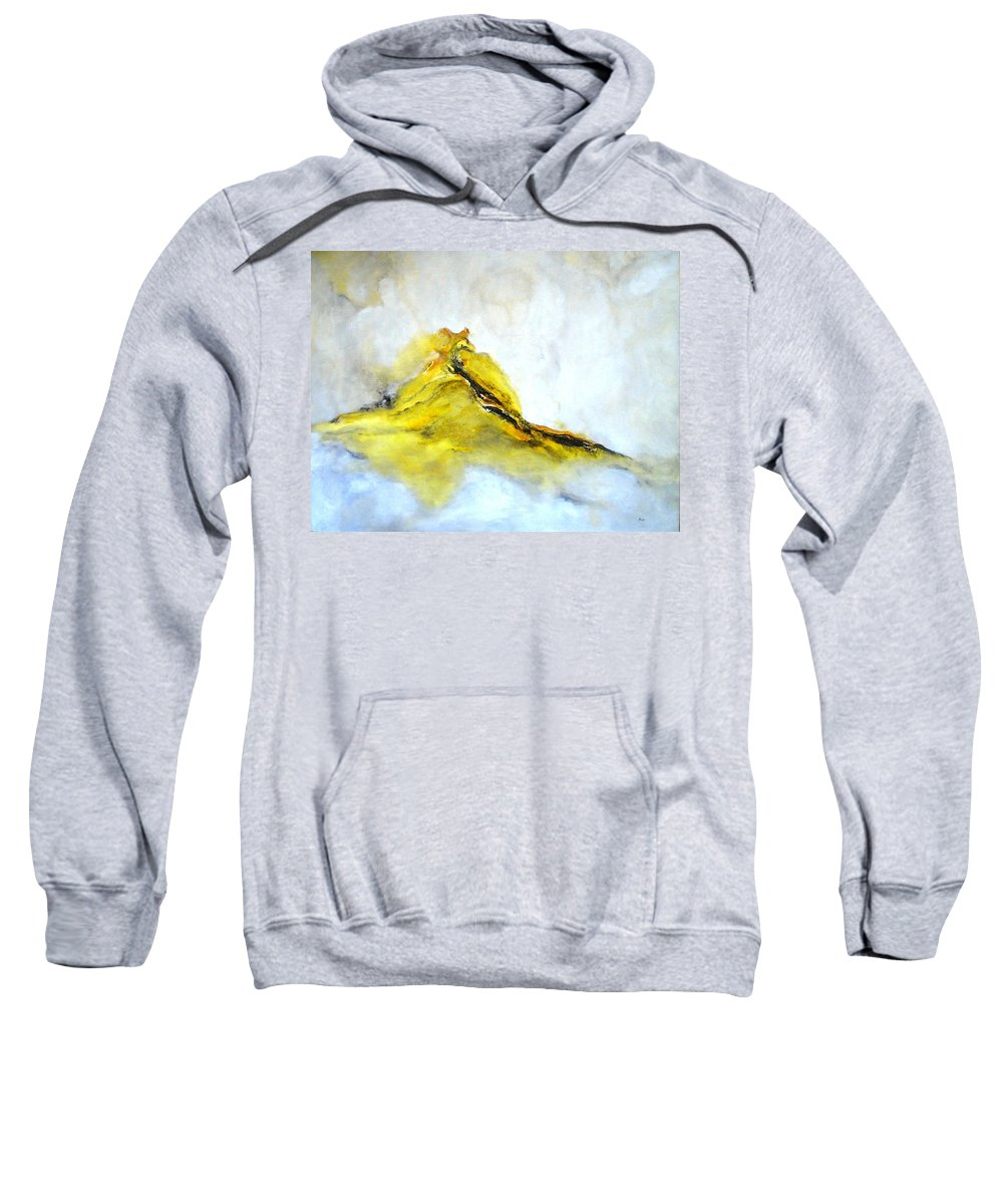 Modern Painting Sweatshirt featuring the painting Modern Abstract Painting Avalon Island by Eva Kurkjian