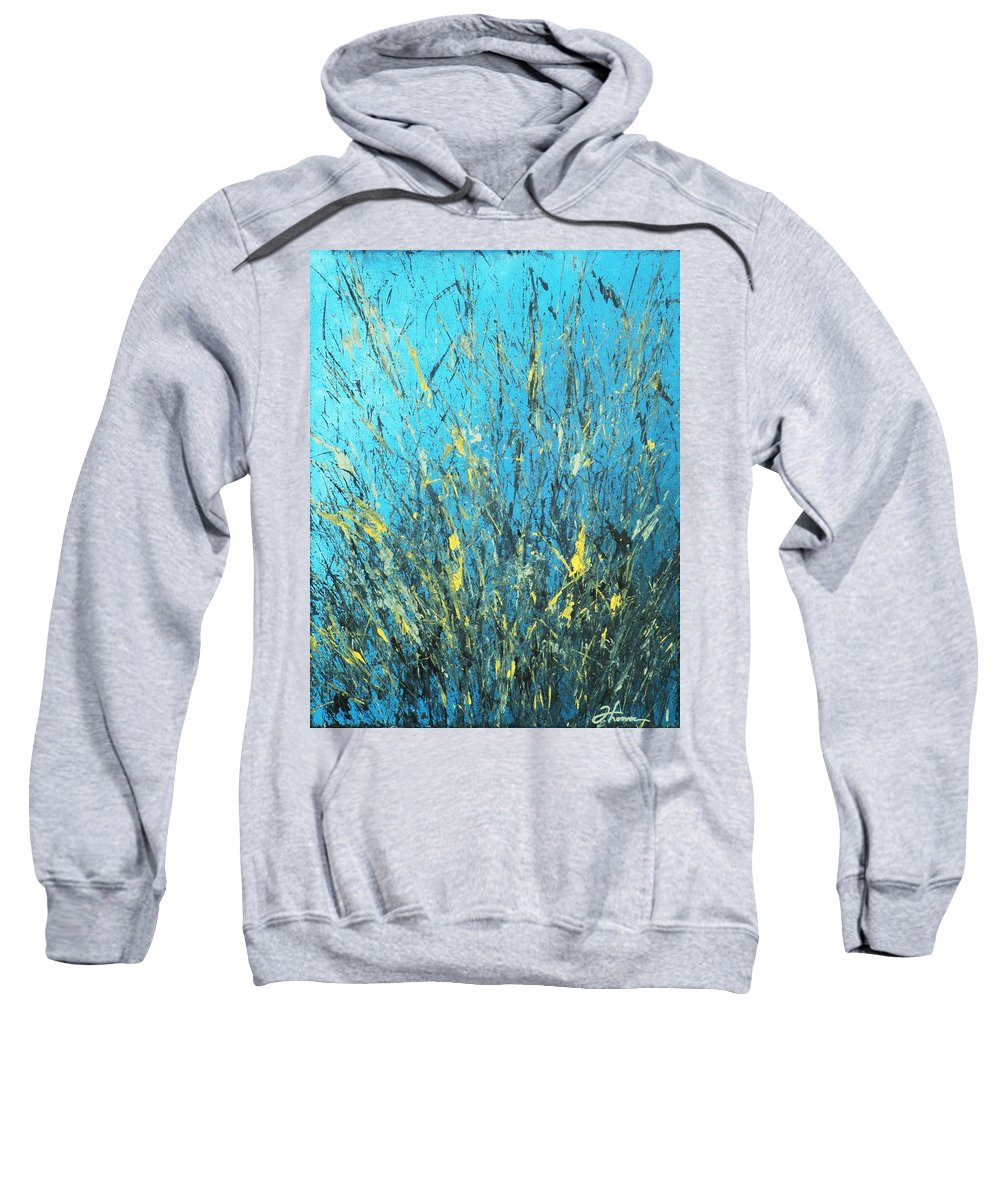 Splash Sweatshirt featuring the painting Awakening by Todd Hoover