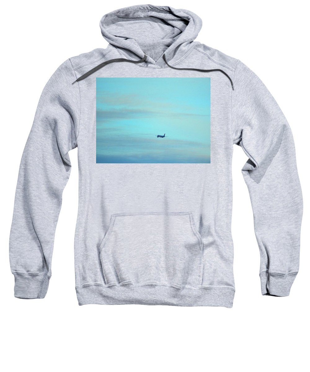 Jet Sweatshirt featuring the photograph Away by Mark Blauhoefer