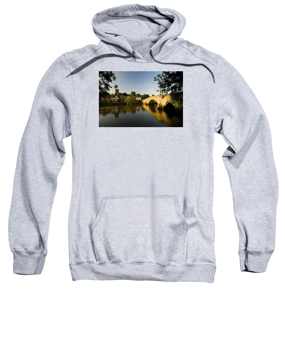Aylesford Sweatshirt featuring the photograph Aylesford Bridge Kent by Chris Pickett