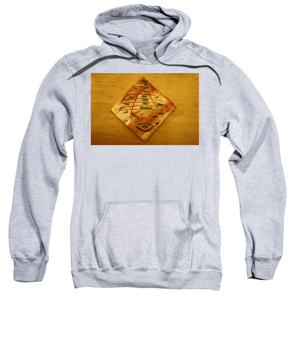 Jesus Sweatshirt featuring the ceramic art Ayo - Tile by Gloria Ssali