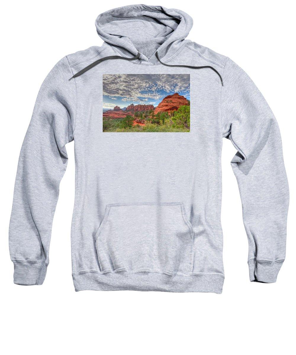 Arizona Sweatshirt featuring the photograph Az-sedona-scnebly Hill Rd. by Arlene Waller