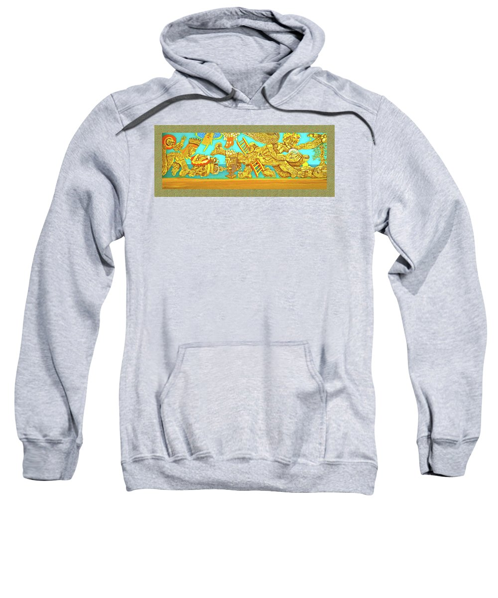 Aztec Fantasy Sweatshirt featuring the photograph Aztec Fantasy by Shirley Anderson