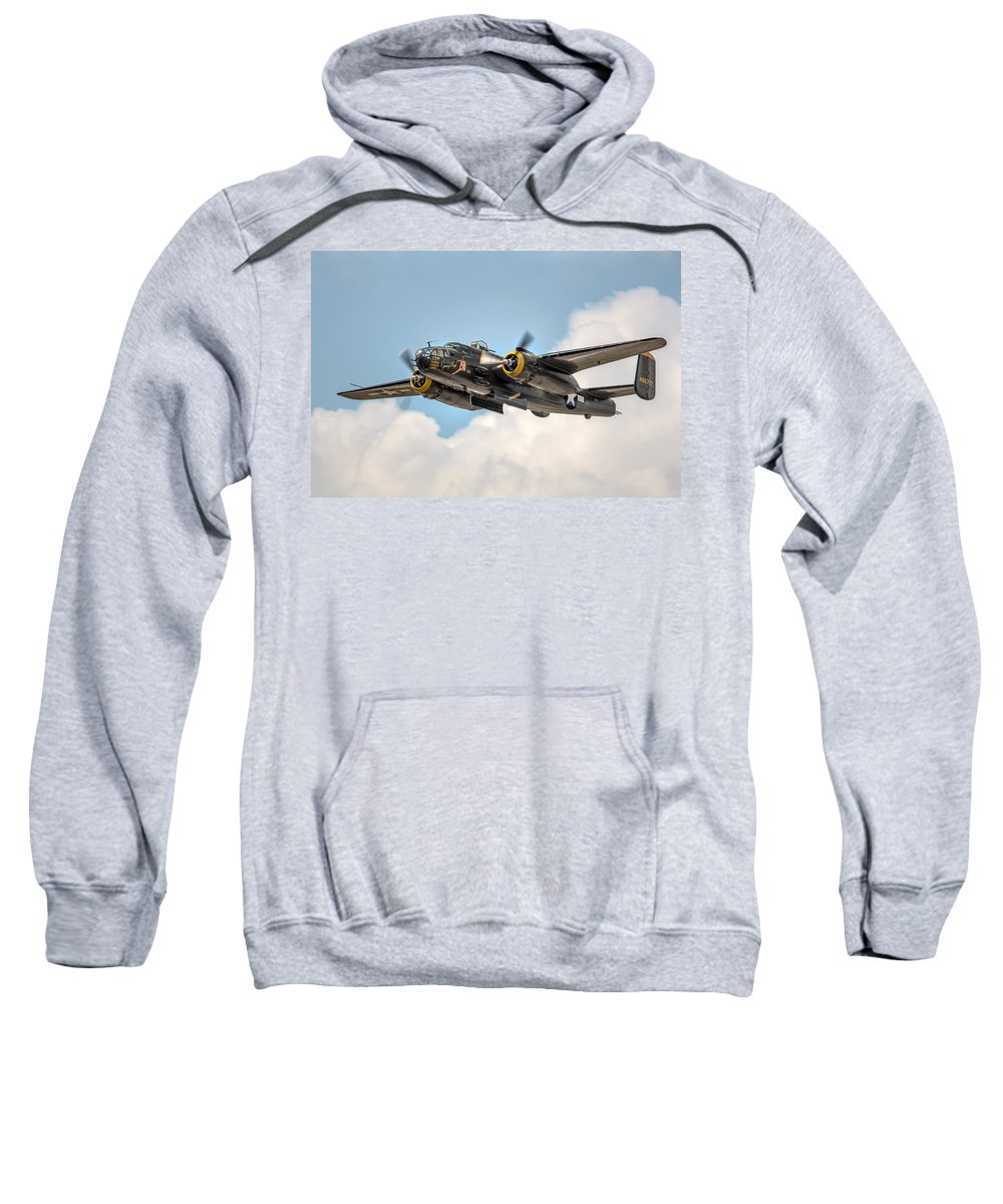 Georgie's Gal Sweatshirt featuring the photograph B-25 Georgie's Gal by Bill Lindsay