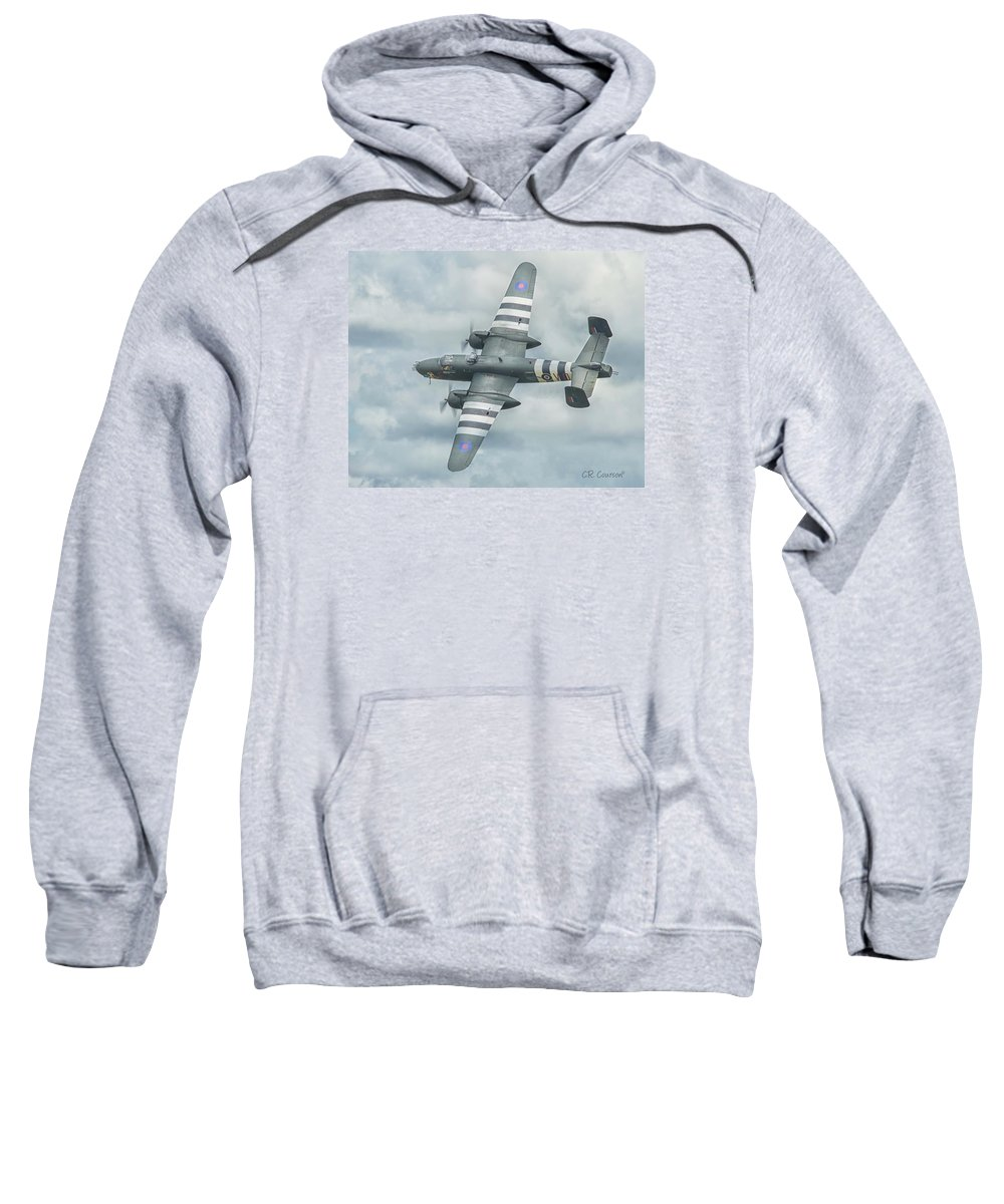 B-25j Mitchell Sweatshirt featuring the photograph B-25j Mitchell by CR Courson