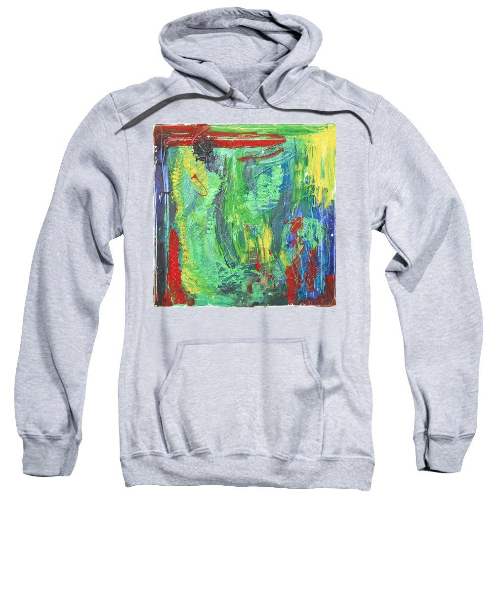 B Beautifull Sweatshirt featuring the painting B-beautifull by Sitara Bruns