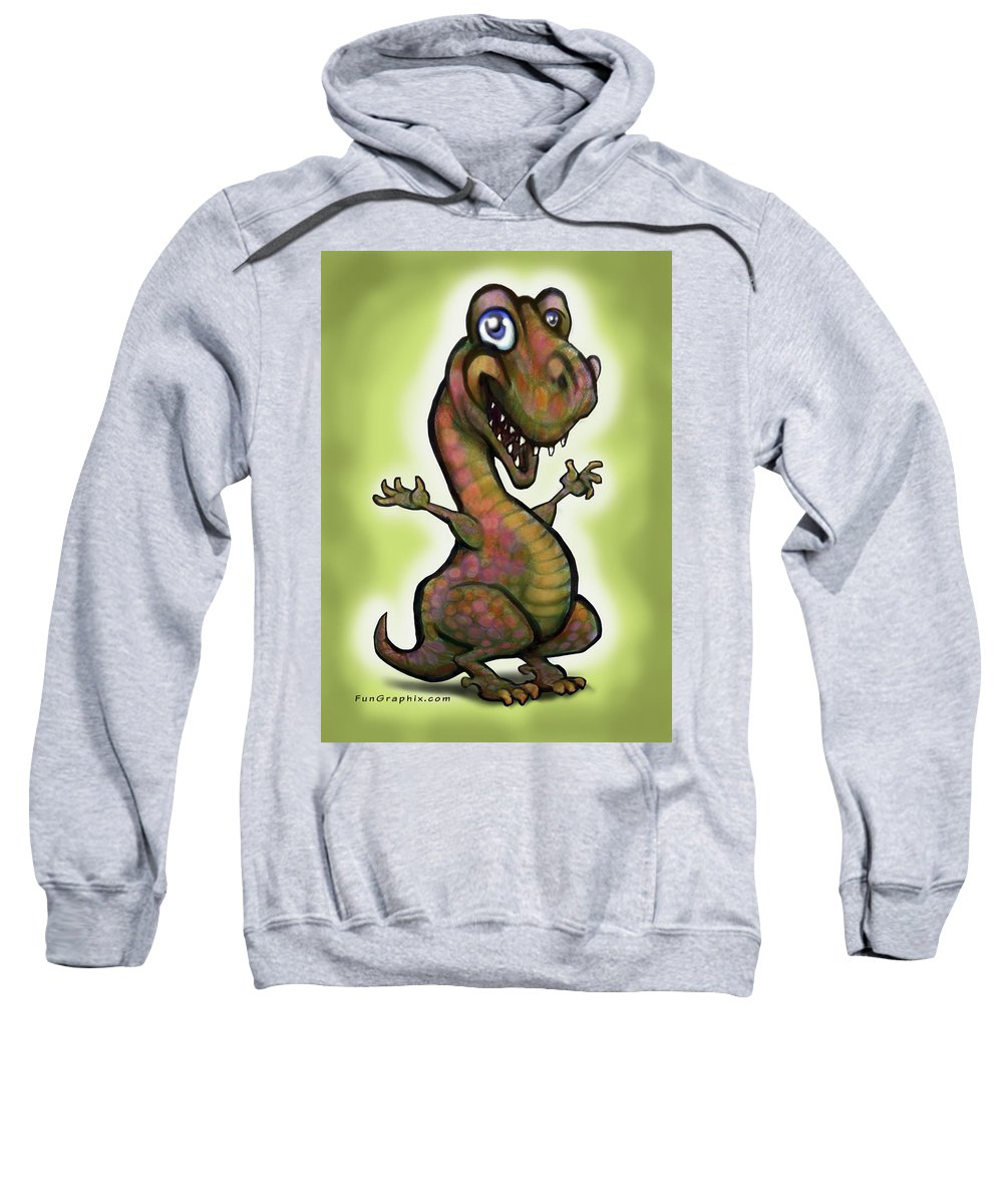 Baby Sweatshirt featuring the painting Babysaurus Rex by Kevin Middleton