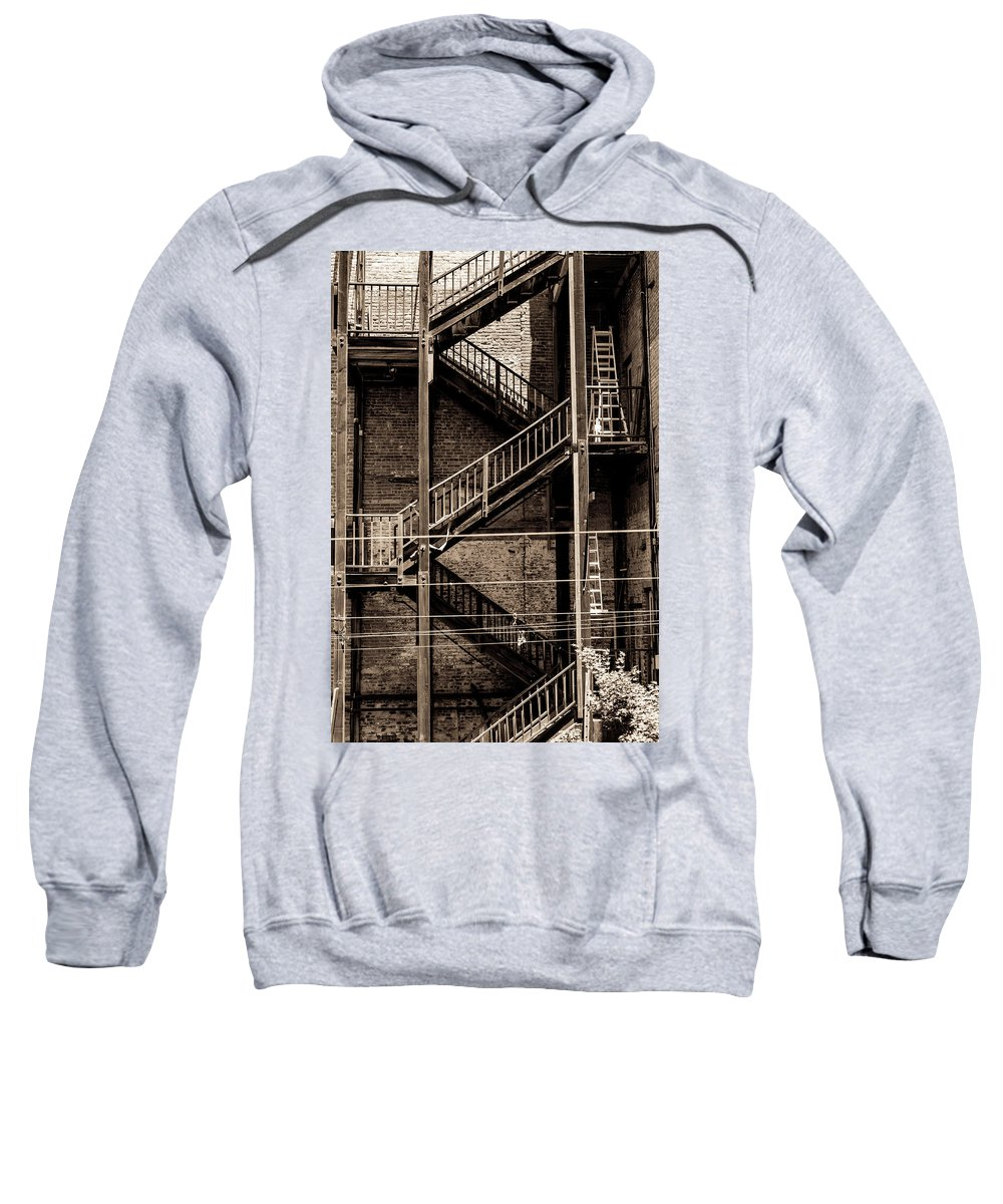 Building Sweatshirt featuring the photograph Back In Time by Daniel Gilbreath