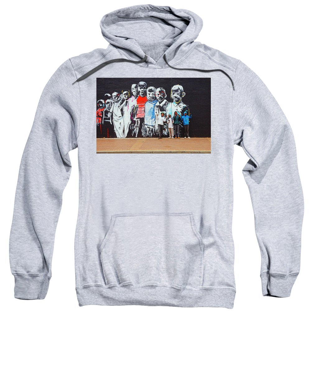 Street Mural Sweatshirt featuring the photograph Back To School by Suzanne Morshead