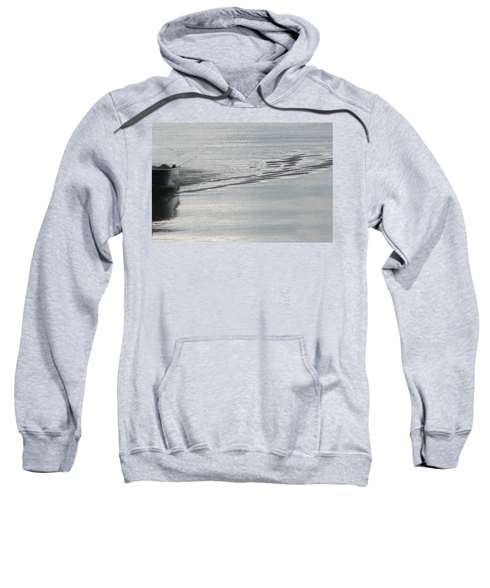 Lake Sweatshirt featuring the photograph Back To The Dock by Kelly Mezzapelle