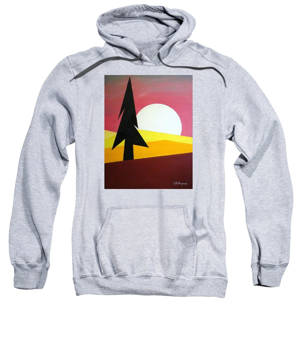 Phases Of The Moon Sweatshirt featuring the painting Bad Moon Rising by J R Seymour