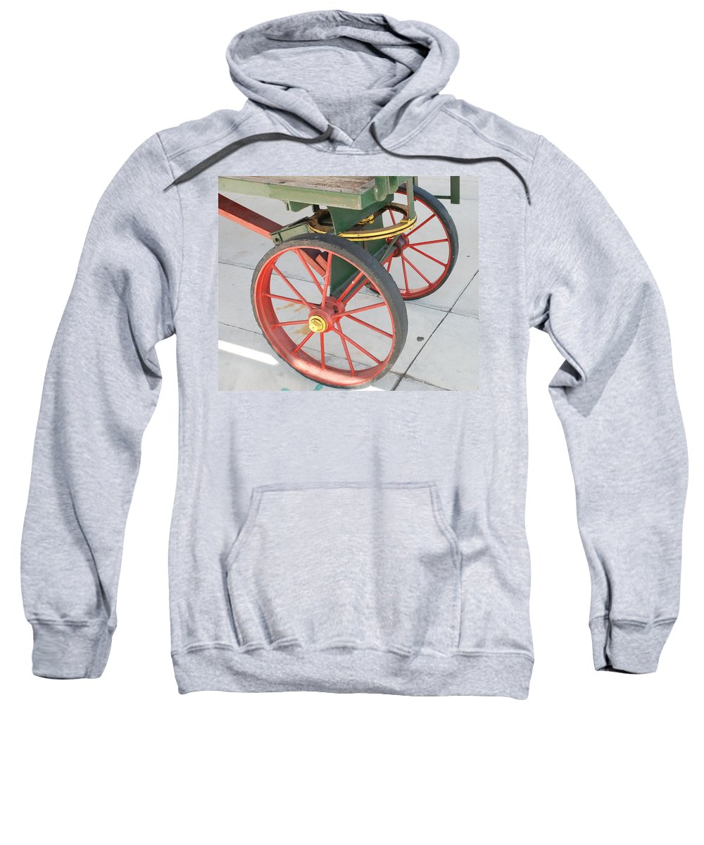 Baggage Cart Sweatshirt featuring the photograph Baggage Cart by Rob Hans