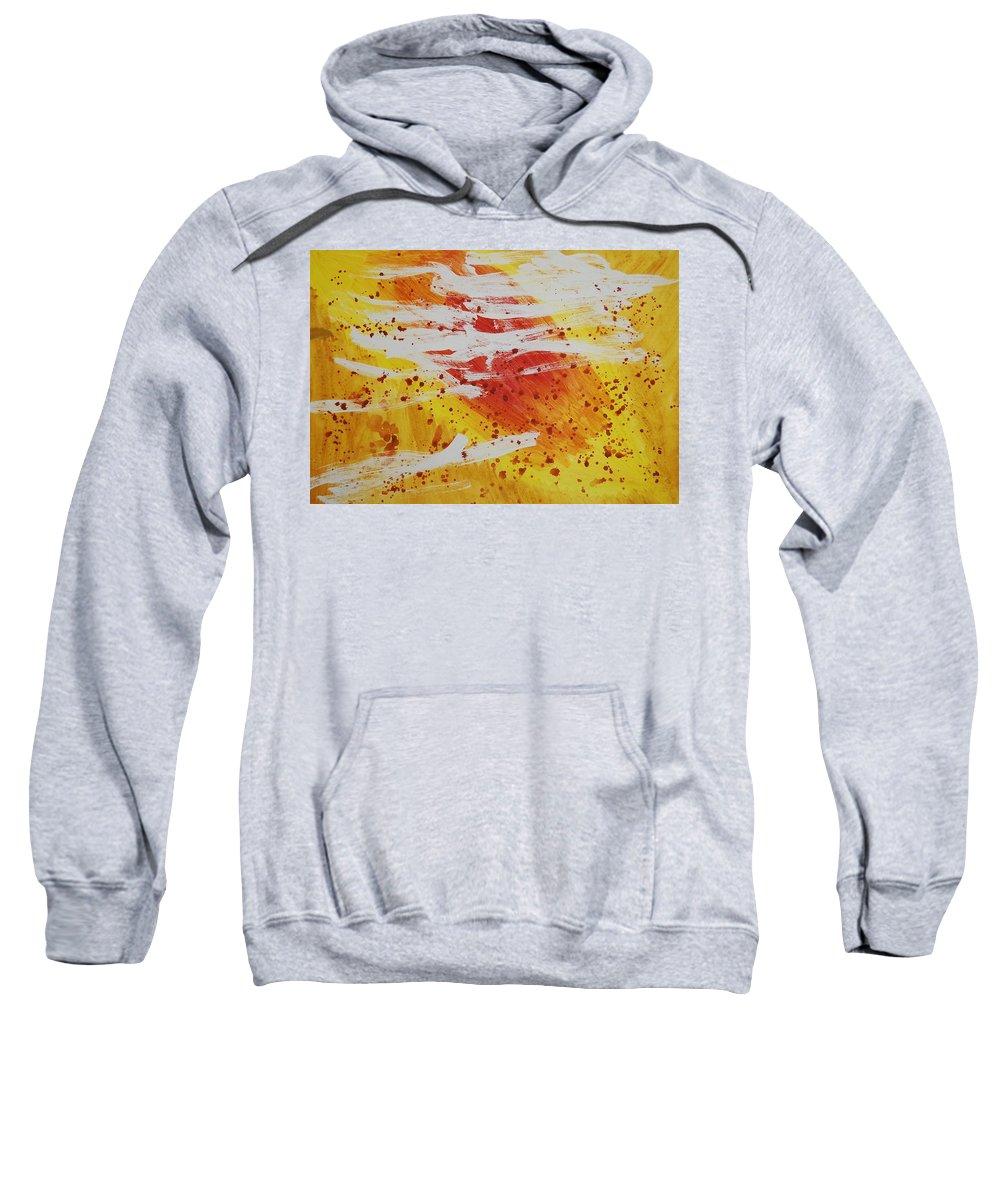 Abstract Sweatshirt featuring the painting Bailando En El Sol by Lauren Luna