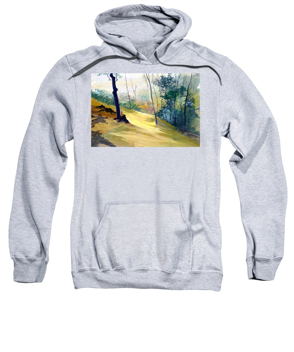 Landscape Sweatshirt featuring the painting Balance by Anil Nene