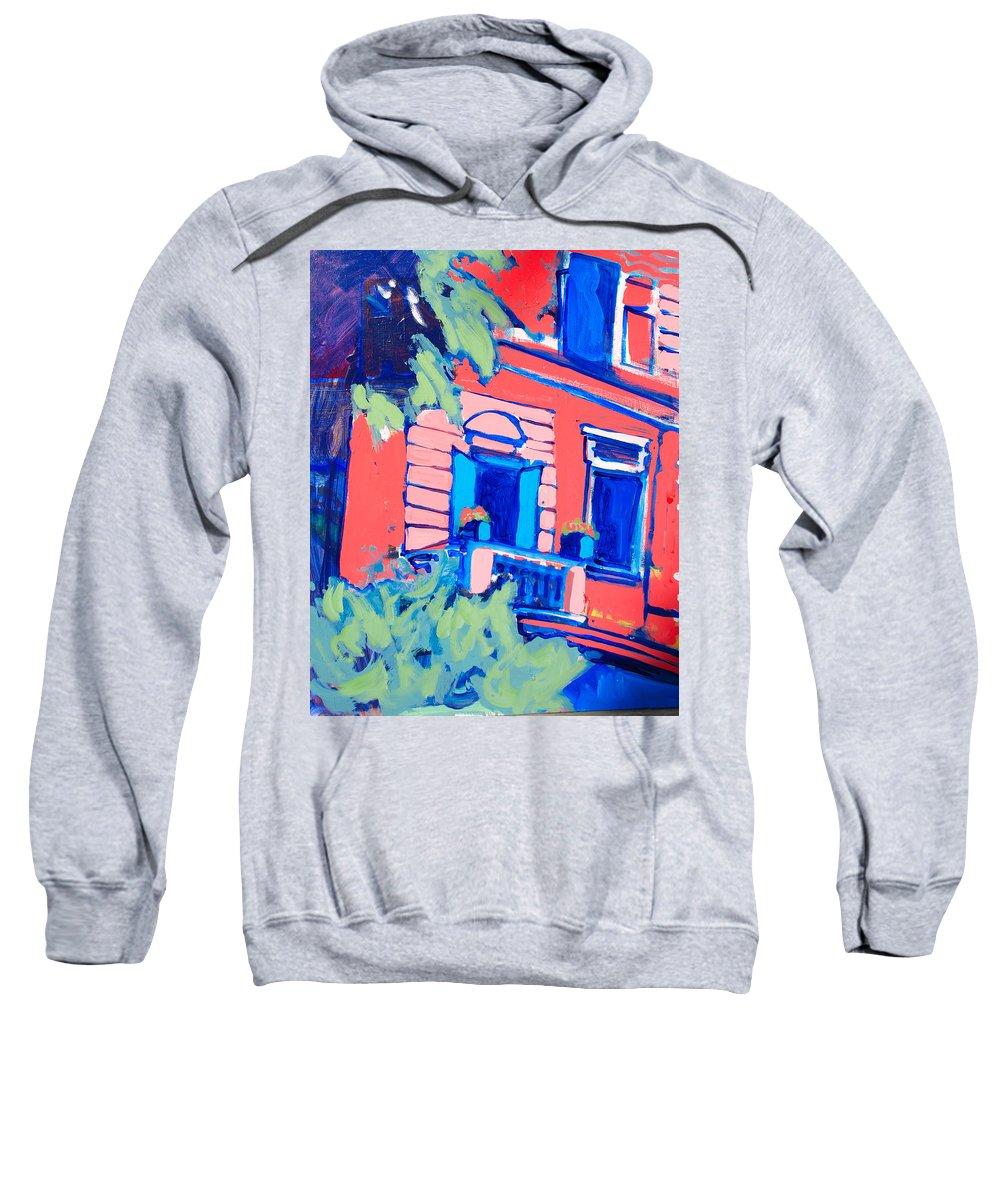 Balcony Sweatshirt featuring the painting Balcone by Kurt Hausmann