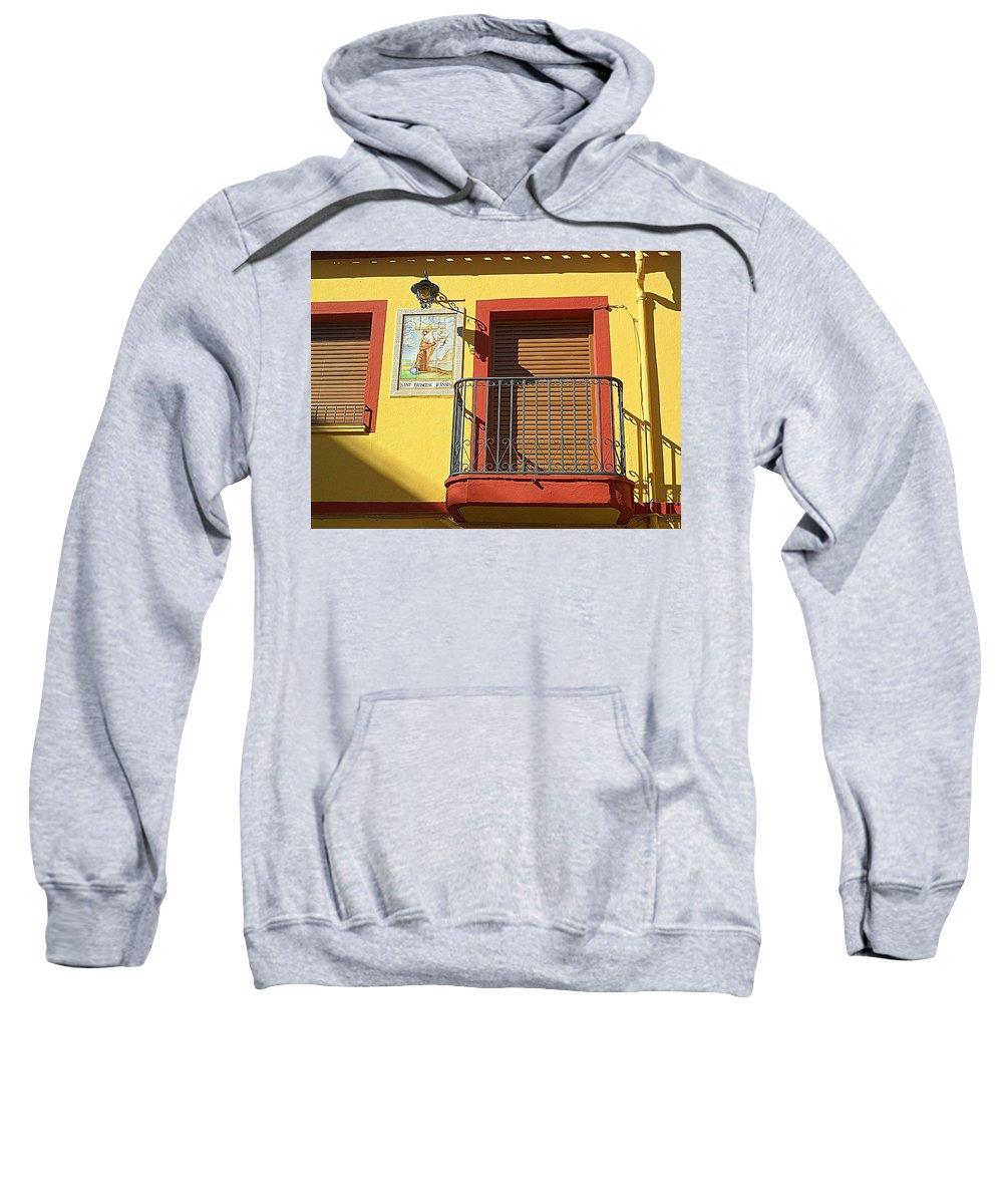 Balcony Sweatshirt featuring the photograph Spanish Balcony by John Hughes
