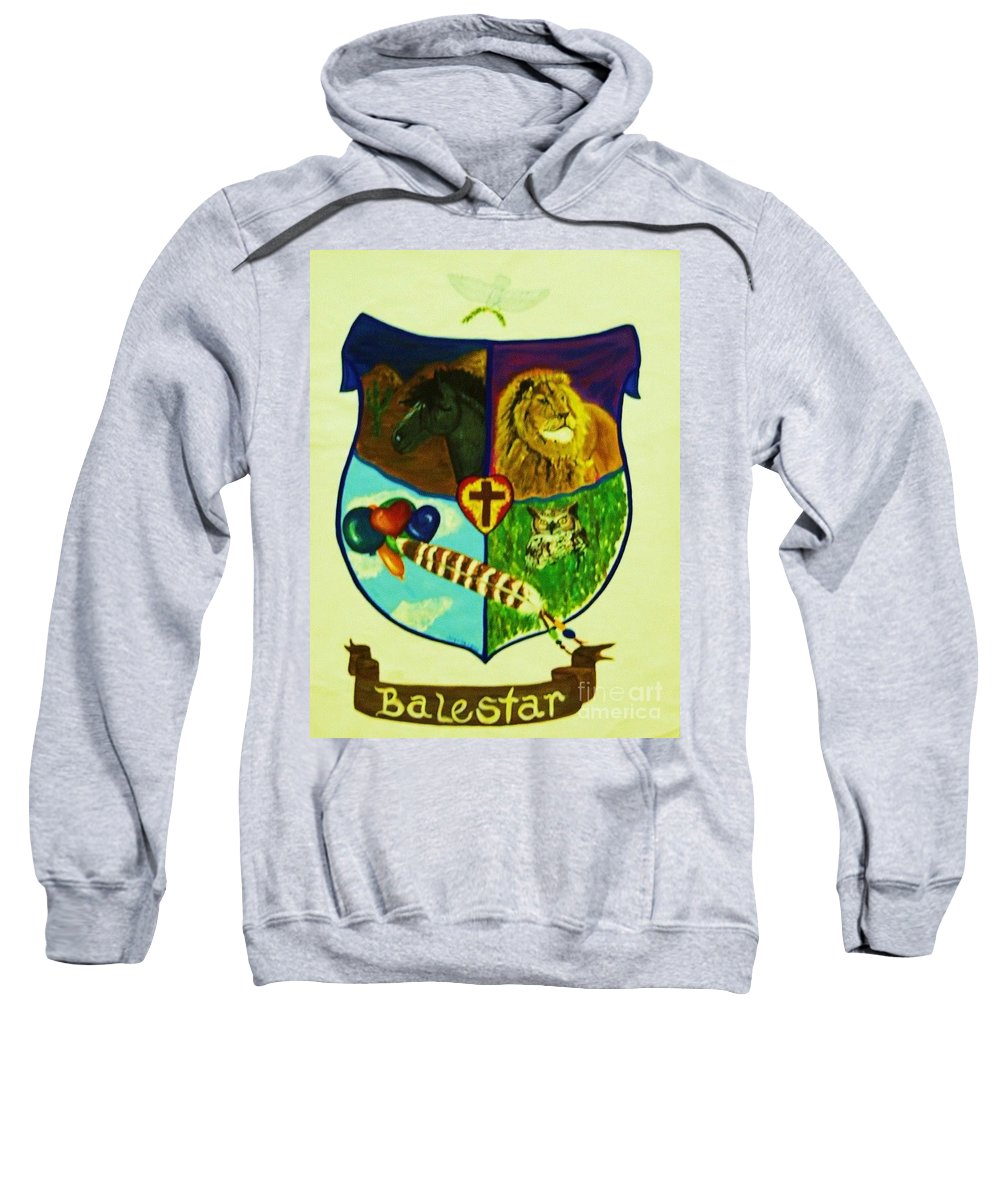 Lion Sweatshirt featuring the painting Balestar Crest by Jamey Balester