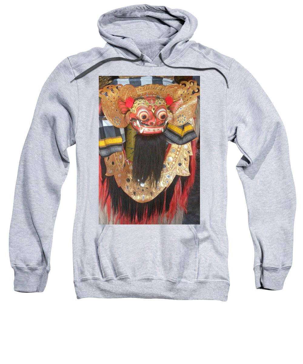 Bali Sweatshirt featuring the photograph Balinese Barong by Mark Sellers