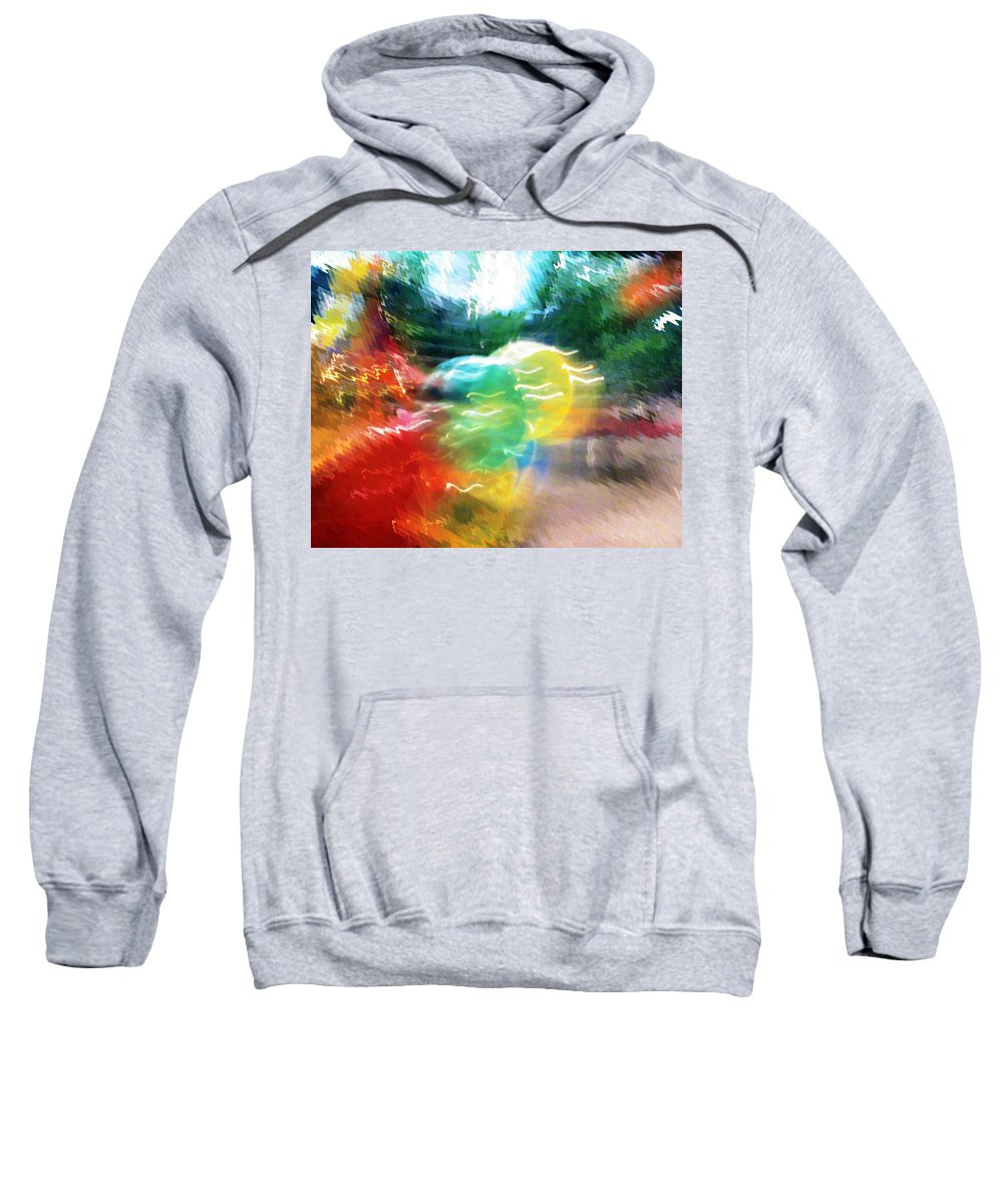 Baloons Sweatshirt featuring the painting Baloons N Lights by Anil Nene