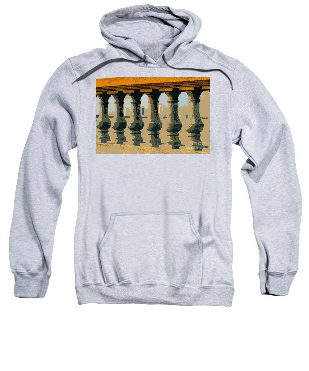Balustrade Sweatshirt featuring the painting Balustrade by David Lee Thompson