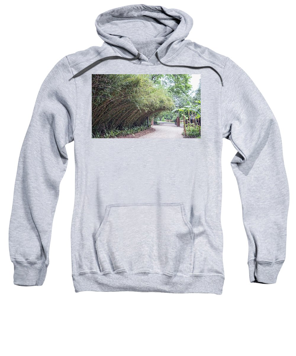 Landscape Sweatshirt featuring the photograph Bamboo Overhang Path by Chuck Kuhn