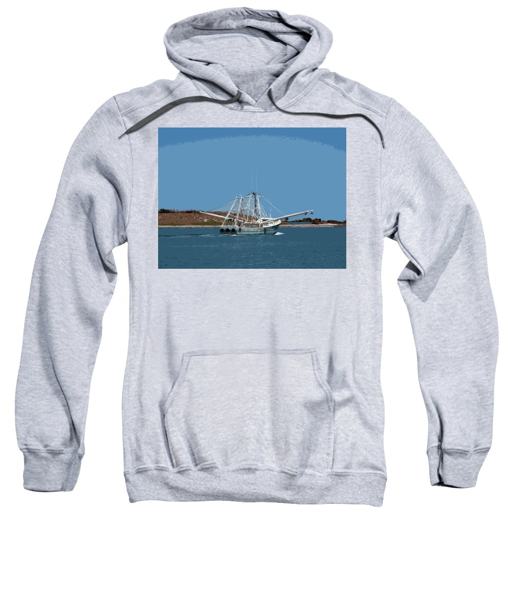 Florida Sweatshirt featuring the painting Band Of Gold Departing Port Canaveral by Allan Hughes