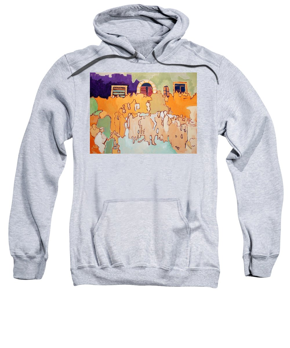 Band Sweatshirt featuring the painting Banda Di Villaggio by Kurt Hausmann