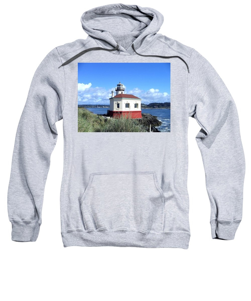 Coquille Lighthouse Sweatshirt featuring the photograph Bandon 1 by Will Borden