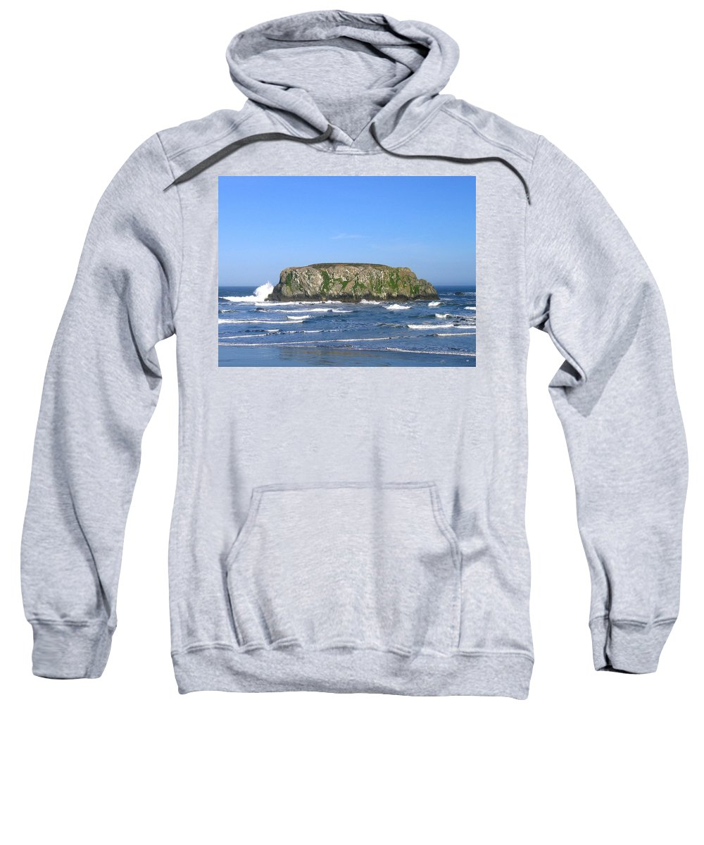 Table Rock Sweatshirt featuring the photograph Bandon 12 by Will Borden